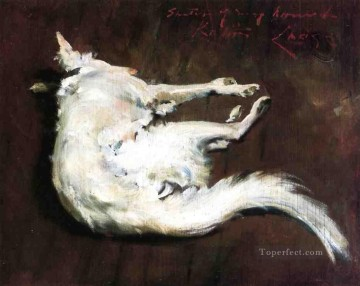 chase Oil Painting - A Sketch of My HoundKuttie William Merritt Chase