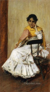 William Merritt Chase Painting - A Spanish Girl aka Portrait of Mrs Chase in Spanish Dress William Merritt Chase