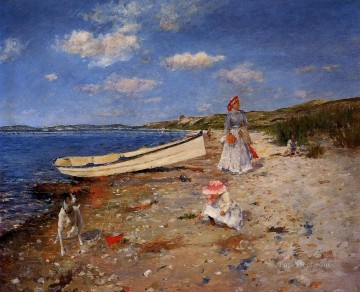 William Merritt Chase Painting - A Sunny Day at Shinnecock Bay William Merritt Chase