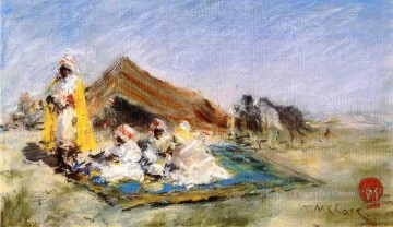 William Merritt Chase Painting - Arab Encampment William Merritt Chase