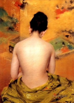 William Merritt Chase Painting - Back Of A Nude William Merritt Chase