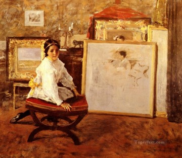 William Merritt Chase Painting - Did You Speak To Me William Merritt Chase