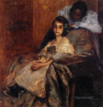 william art painting - Dorothy and Her Sister William Merritt Chase