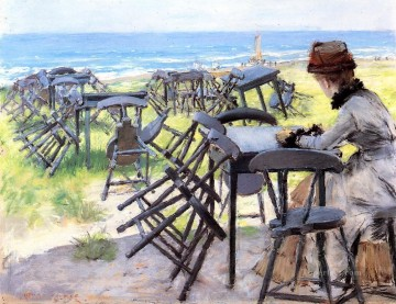 William Merritt Chase Painting - End of the Season William Merritt Chase