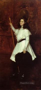 William Merritt Chase Painting - Girl in White aka Portrait of Irene Dimock William Merritt Chase