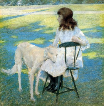 William Merritt Chase Painting - Good Friends William Merritt Chase