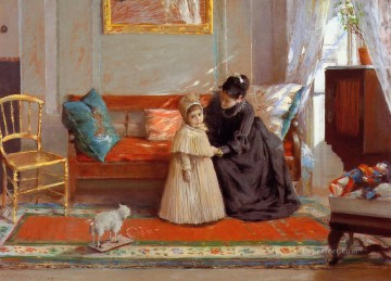aka - I am Going to See Grandma aka Mrs Chase and Child William Merritt Chase