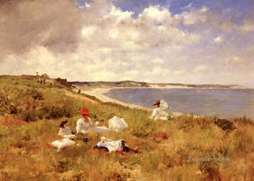 Hour Painting - Idle Hours William Merritt Chase