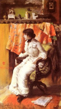 William Merritt Chase Painting - In The Studio William Merritt Chase