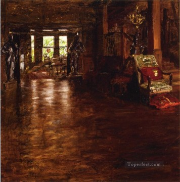 William Merritt Chase Painting - Interior Oak Manor William Merritt Chase