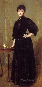 mrs painting - Lady in Black aka Mrs Leslie Cotton William Merritt Chase