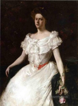 rose roses Painting - Lady with a Rose William Merritt Chase