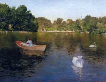 William Merritt Chase Painting - On the Lake Central Park2 William Merritt Chase