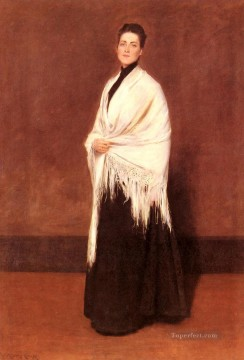 mrs - Portrait Of MrsCSHAWL William Merritt Chase