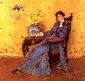 William Merritt Chase Painting - Portrait of Miss Dora Wheeler William Merritt Chase