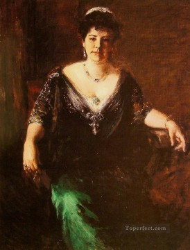 William Merritt Chase Painting - Portrait of Mrs William Merritt Chase William Merritt Chase