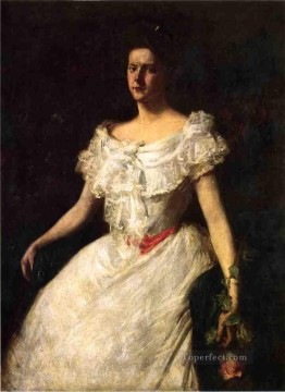 rose roses Painting - Portrait of a Lady with a Rose William Merritt Chase