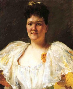 William Merritt Chase Painting - Portrait of a Woman William Merritt Chase