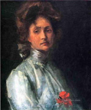 William Merritt Chase Painting - Portrait of a Young Woman William Merritt Chase