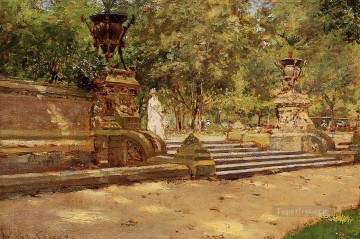 chase Oil Painting - Prospect Park Brooklyn William Merritt Chase
