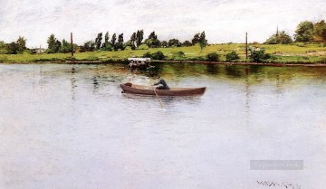 Shore Painting - Pulling for Shore William Merritt Chase