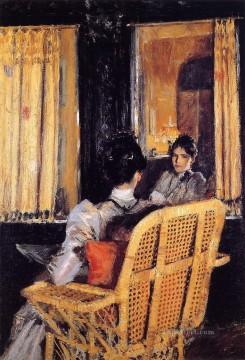 William Merritt Chase Painting - Reflection William Merritt Chase