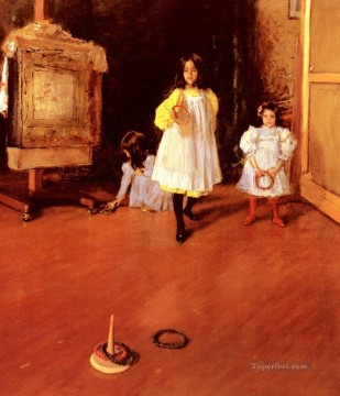 William Merritt Chase Painting - Ring Toss William Merritt Chase