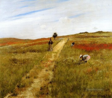 aka - Shinnecock Hills aka Shinnecock Hills Autumn William Merritt Chase