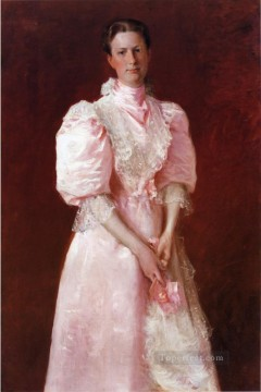 aka - Study in Pink aka Portrait of Mrs Robert P McDougal William Merritt Chase