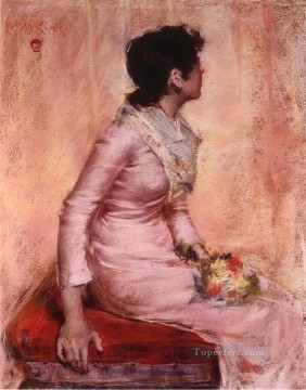 William Merritt Chase Painting - Surprise aka Alice Gerson William Merritt Chase