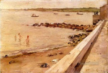 bath girl oil painting Painting - The Bathers William Merritt Chase