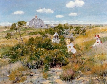 bay Painting - The Bayberry Bush aka Chase Homestead Shinnecock William Merritt Chase