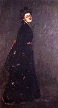 William Merritt Chase Painting - The Black Kimono William Merritt Chase