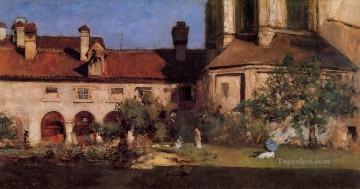 William Merritt Chase Painting - The Cloisters William Merritt Chase