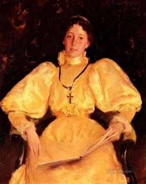 lady - The Golden Lady William Merritt Chase