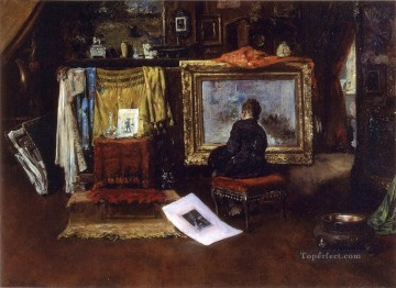 William Merritt Chase Painting - The Inner Studio Tenth Street William Merritt Chase