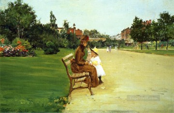 William Merritt Chase Painting - The Park aka In Tompkins Park William Merritt Chase