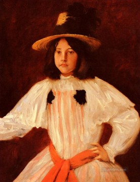 chase Oil Painting - The Red Sash William Merritt Chase