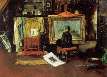 William Merritt Chase Painting - The Tenth Street Studio William Merritt Chase