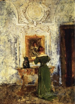 lady - Woman in Green aka Lady in Green William Merritt Chase