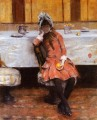 Young Girl on an Ocean Steamer William Merritt Chase