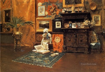 chase Oil Painting - In the Studio 1881 William Merritt Chase