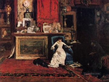 Artists Oil Painting - Interior of the Artists Studio aka The Tenth Street Studio William Merritt Chase