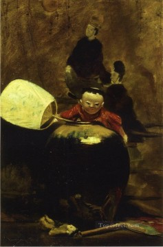 William Merritt Chase Painting - The Japanese Doll William Merritt Chase