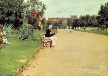 William Merritt Chase Painting - The Park William Merritt Chase