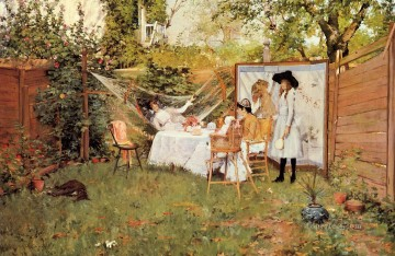 aka - The Open Air Breakfast aka The Backyard Breakfast Out of Doors William Merritt Chase
