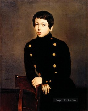 Painters Art - Portrait of Ernest Chasseriau The Painters Brother in the Uniform of the Eco romantic Theodore Chasseriau