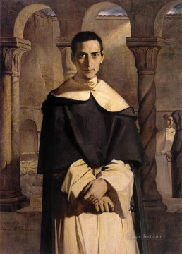 dai Painting - Portrait of the Reverend Father Dominique Lacordaire of the Order of the Pred romantic Theodore Chasseriau