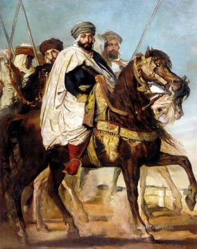 Constant Canvas - Ali Ben Hamet Caliph of Constantine of the Haractas followed by his Escort 18 romantic Theodore Chasseriau