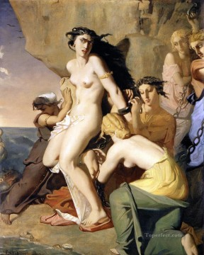 Rome Art Painting - Andromeda Chained to the Rock by the Nereids 1840 romantic Theodore Chasseriau